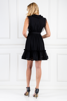 Black Mini Elfie Dress-2