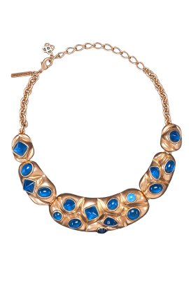 Gold Resin Bib Necklace -0