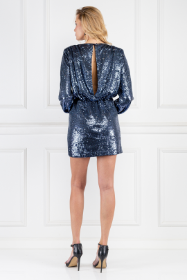 Skylar Wrap-effect Sequined Dress-2