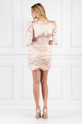 Satin Wrap Mini Dress-2