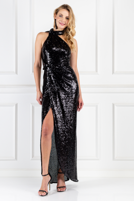 William Black Sequin Dress-0