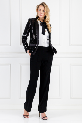 Sequined Satin-twill Blazer -1