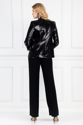 Sequined Satin-twill Blazer -2