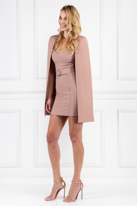Nude Cape Mini Dress-1