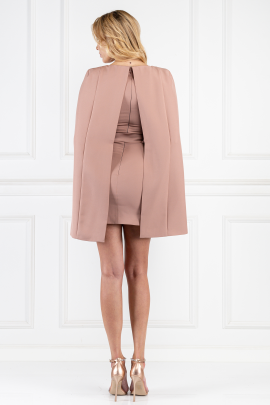 Nude Cape Mini Dress-2