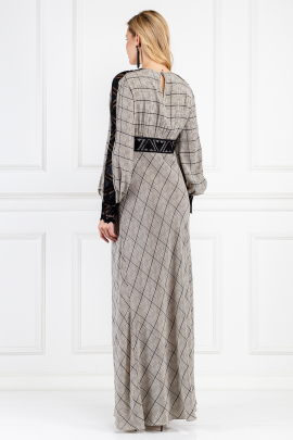 Long Helm Check Dress-2
