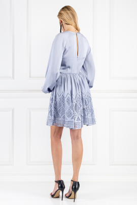 Pale Blue Azure Sleeved Dress-2