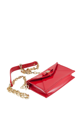 Clear Red Leather Bag-2