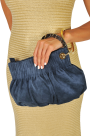 Blue Suede Ring Hand Bag