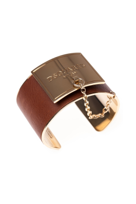 Leather Gold Maxi Bracelet-0