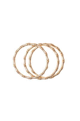 Three Gold-plated Bracelets-2
