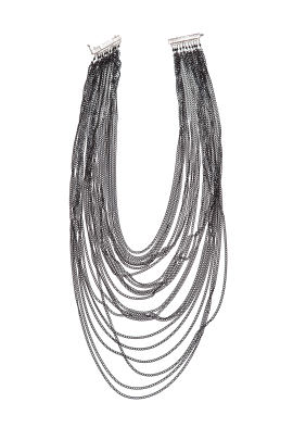 Gunmetal Tone Necklace-0