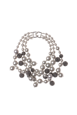 Silver Pearl Necklace-0