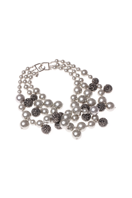 Silver Pearl Necklace-2