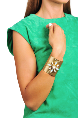 Selma Gold Plated Cuff-1