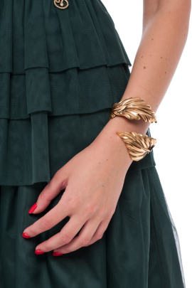 Gold-plated Leaf Cuff-2