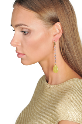 Brass Crystal Earrings-2