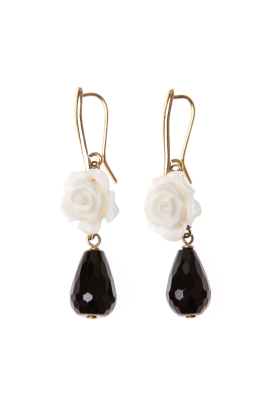 White Rose Earrings -0