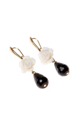 White Rose Earrings -2