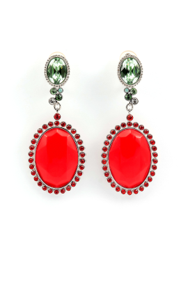 Red Elegance Earrings-0