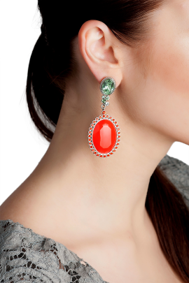Red Elegance Earrings-1