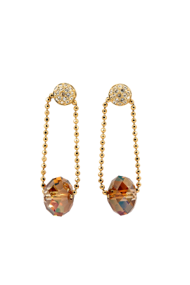 Golden Midnight Star Earrings-0