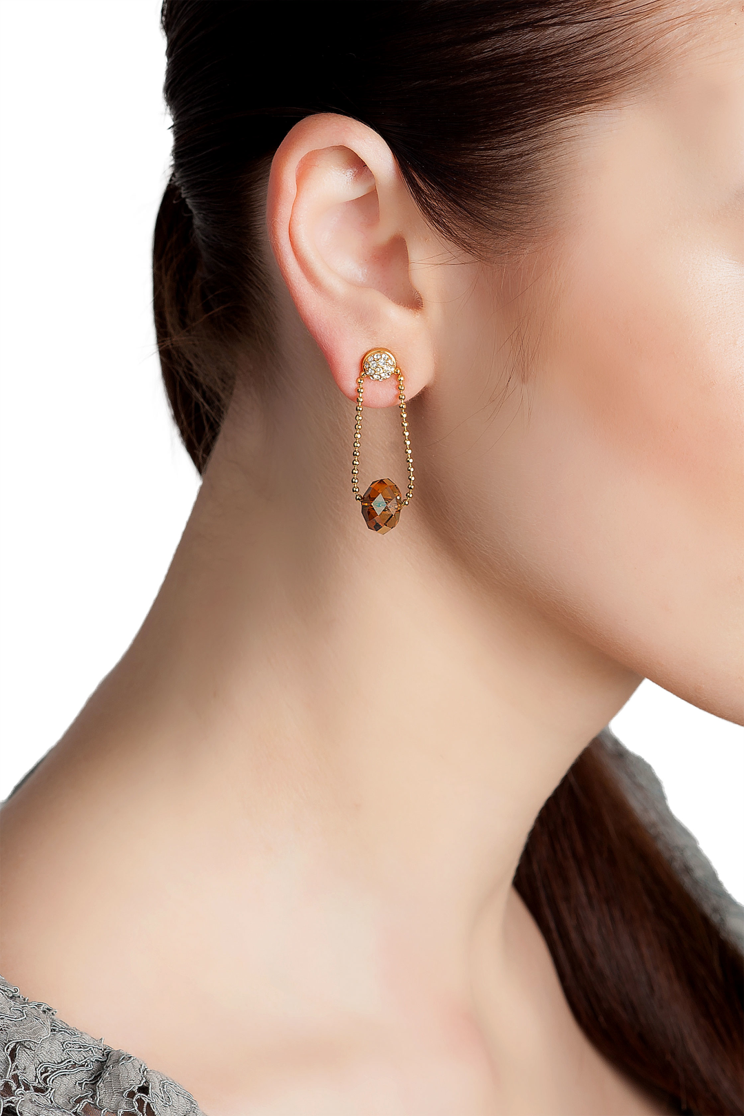 Golden Midnight Star Earrings