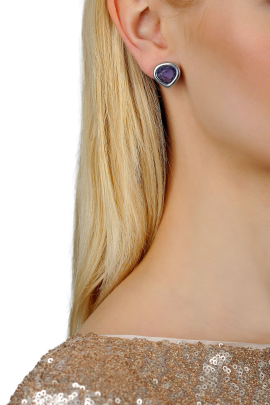 Purple Drop Earrings / VILNIUS-1