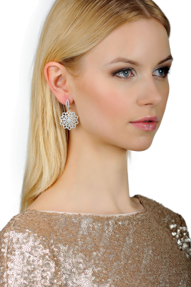 Snow Flower Earrings-1