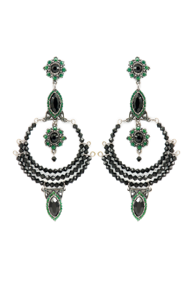 Green Emerald Earrings-0