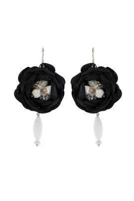Black Soft Touch Earrings-0