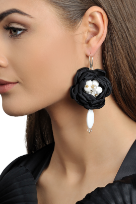 Black Soft Touch Earrings-1