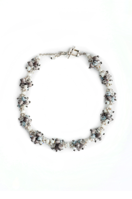 White Soft Touch Necklace-0