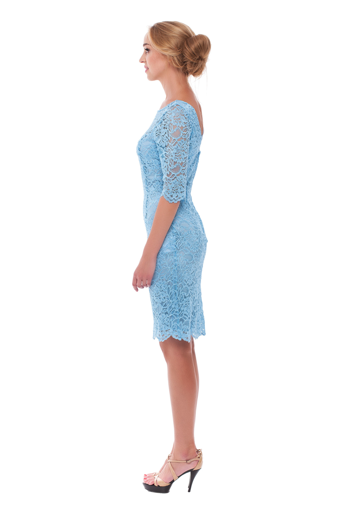 Blue Story in Lace Dress
