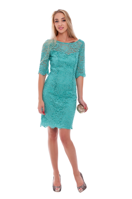Charming Mint Lace Dress-0