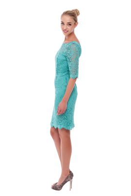 Charming Mint Lace Dress-1