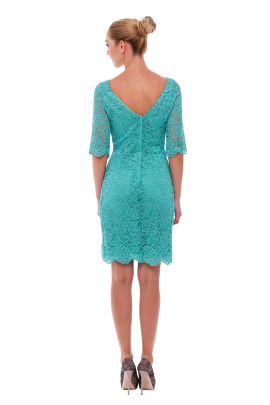 Charming Mint Lace Dress-2