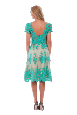 Vine Green Lace Dress-2