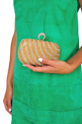 Gold Stripe Classic Clutch -1
