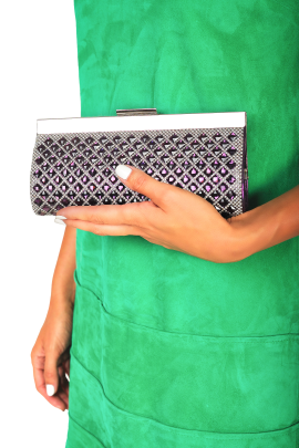 Purple Sparkling Clutch -1
