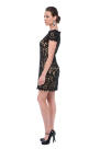 Black Mini Embroidery Dress