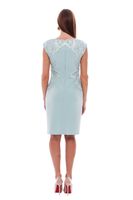Frosted Jade Neoprene Dress -2