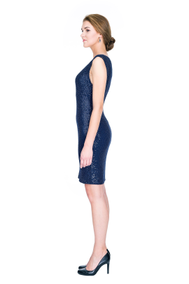 Navy Sequin Dress-2
