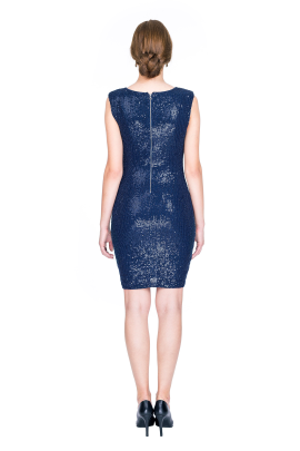 Navy Sequin Dress-3