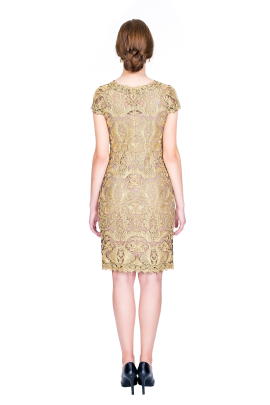 Golden Embroidery Dress-2