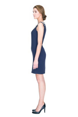 Trapeze Dark Blue Dress-1