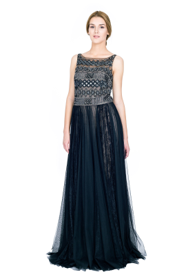 Embellished Tulle Gown -1