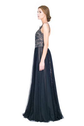 Embellished Tulle Gown -2