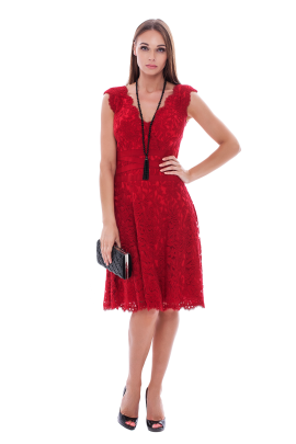 Flame Embroidered Dress-0