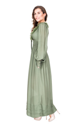 Forest Green Maxi Dress-1